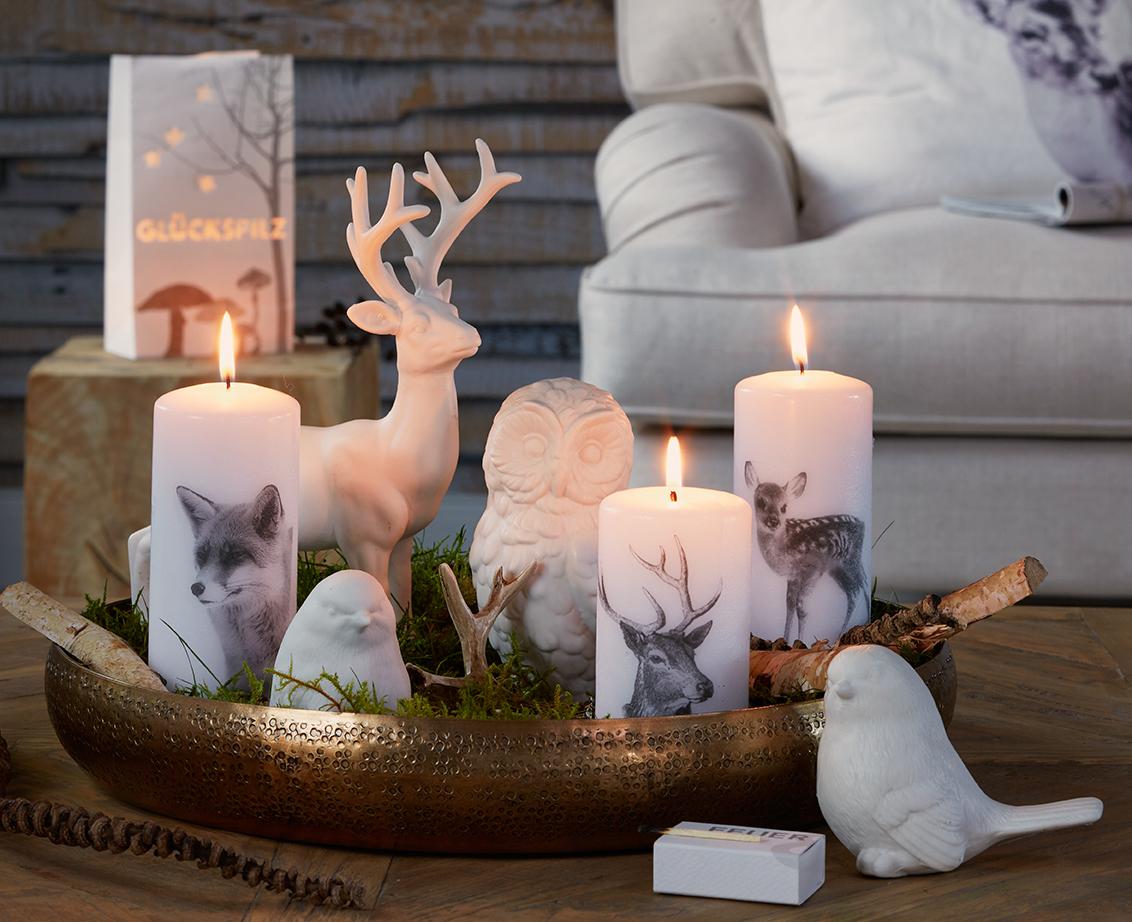Schone Stimmung Mit Kerzenschein Und Waldbewohnern Diewohnblogger De